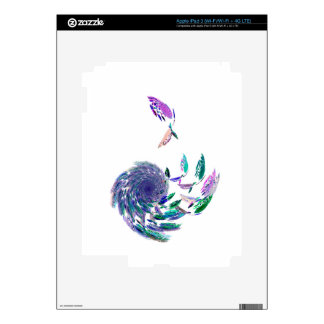 Feather tunnel decal for iPad 3