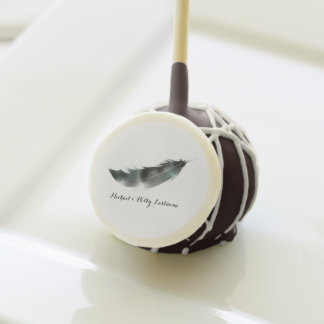 Feather Wedding Cake Pops
