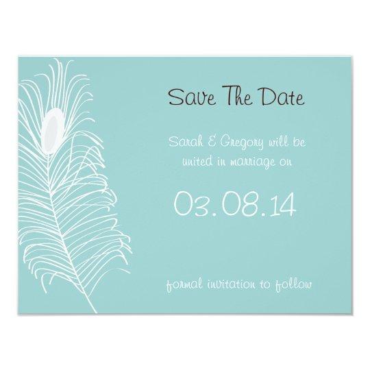 Feather Wedding Card
