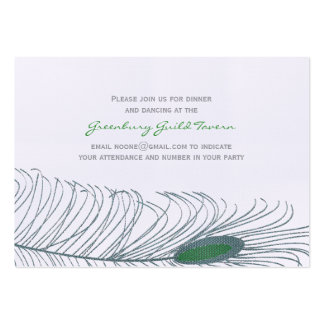 Feather Wedding II Large Business Card