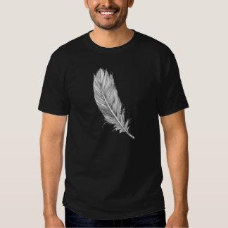 feather white tee shirt