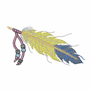 Feather with beads embroidered shirt