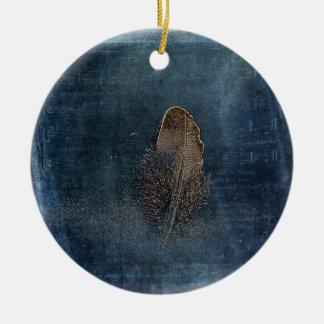 Feather with Meaning Ceramic Ornament