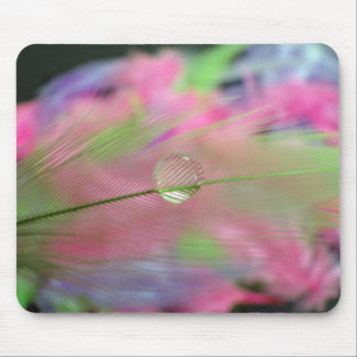 Feather with waterdrop mouse pad