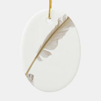 featherandink ceramic ornament