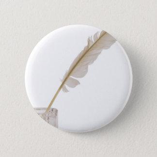 featherandink pinback button