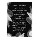 Feathered 1920's Wedding Invitation 3