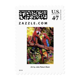 Feathered Duet Postage Stamp