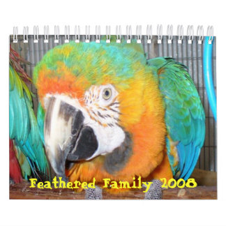 Feathered Family 2008 Calendar, Small Calendar