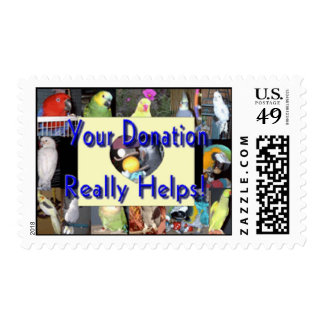Feathered Family Parrot Rescue Postage Stamps