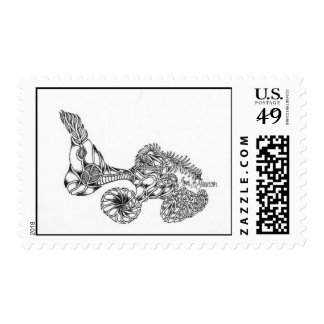 """""""Feathered Fossil"""" Stamp"""