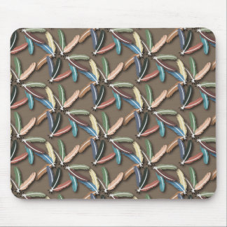 Feathered Fountain Pen Mouse Pad