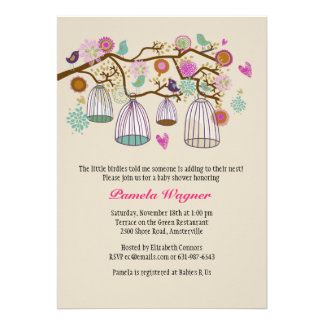 Feathered Friends Fall Invitation