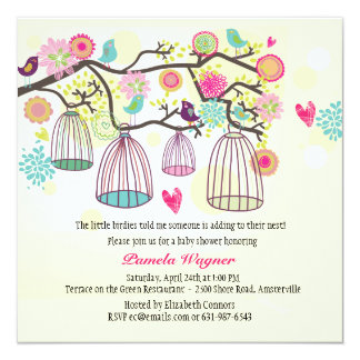 Feathered Friends Spring Invitation