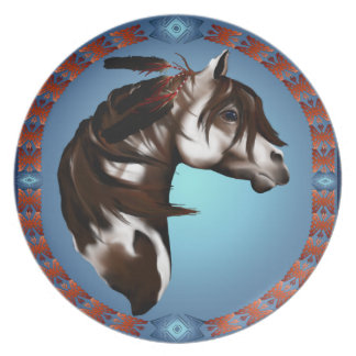 Feathered Horse Plate
