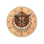 Feathered Katsina (Kachina) Sun Face Clocks