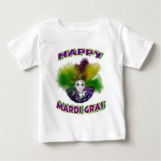 Feathered Mardi Gras Mask Baby T-Shirt