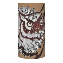 Feathered Moon Owl Flameless Candle