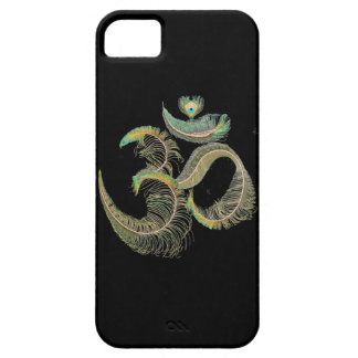 Feathered Om, Indian Peacock Tail. iPhone SE/5/5s Case
