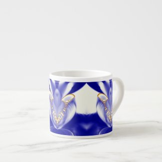 Feathered Orchid Fractal 6 Oz Ceramic Espresso Cup