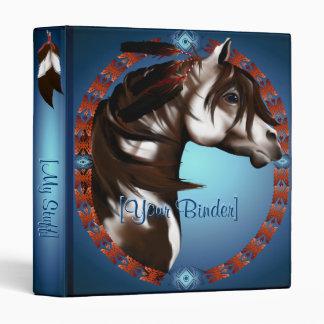 Feathered Paint Horse binder_1_front.v4. Vinyl Binder