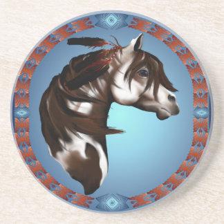 Feathered Paint Horse- Coaster
