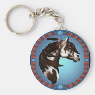 Feathered Paint Horse-Keychain