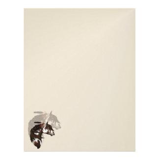 Feathered Paint Horse letterhead2_vertical. Letterhead