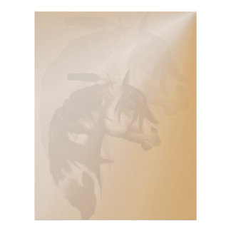Feathered Paint Horse letterhead_vertical. Letterhead