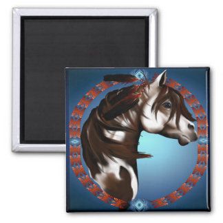 Feathered Paint Horse_Magnet Magnet