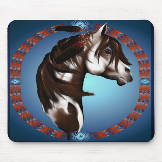 Feathered Paint Horse_Mousepad Mouse Pad