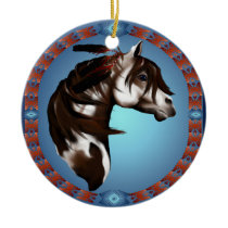 Feathered Paint Horse-Ornaments Ceramic Ornament
