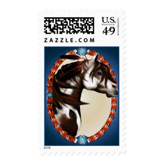 Feathered Paint Horse Postage