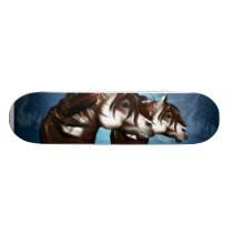 Feathered Paint Horse Skateboards