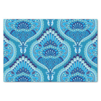 Feathered Paisley - Blueish Tissue Paper