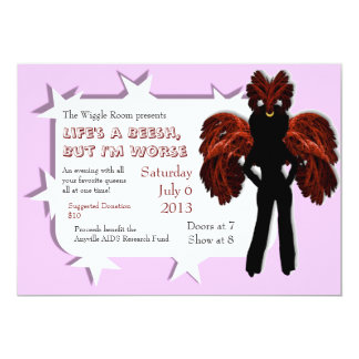 Feathered Queen Custom Drag Show Invites