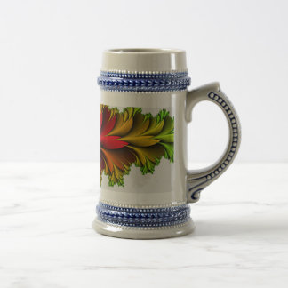 Feathered Rainbow of Fractals Beer Stein