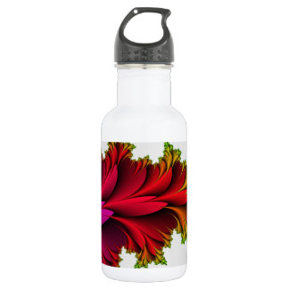 Feathered Rainbow of Fractals Stainless Steel Water Bottle