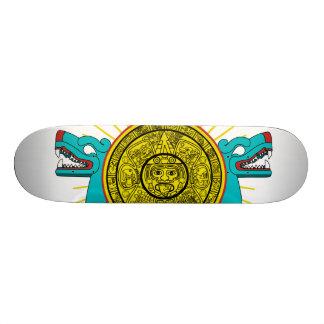 Feathered Serpent skateboard deck