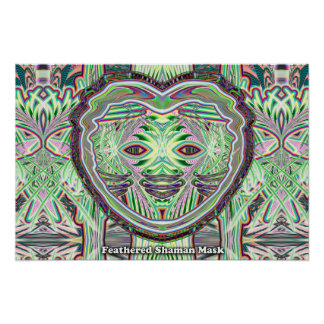 Feathered Shaman Mask poster