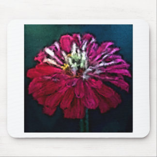 Feathered Zinnia Mouse Pad