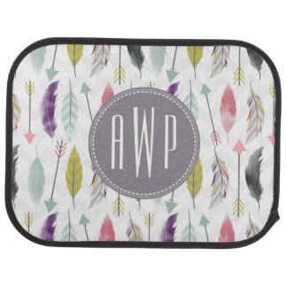 Feathers and Arrows Monogram Floor Mat