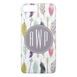 Feathers and Arrows Monogram iPhone 7 Plus Case