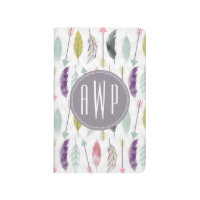 Feathers and Arrows Monogram Journal