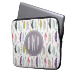 Feathers and Arrows Monogram Laptop Sleeves