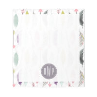 Feathers and Arrows Monogram Notepad