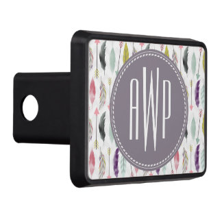 Feathers and Arrows Monogram Tow Hitch Cover