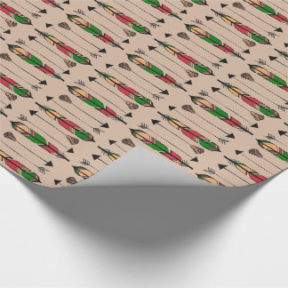 Feathers and Arrows Wrapping Paper