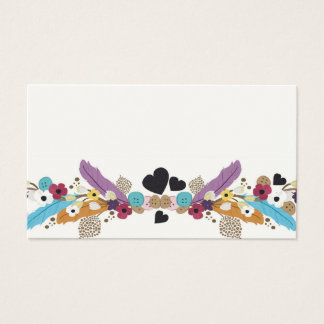 Feathers and buttons Business Card