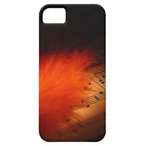 Feathers and Music iPhone SE/5/5s Case